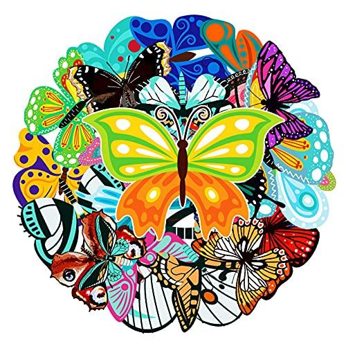 YCYY 68 Pegatinas de Dibujos Animados de Mariposas Pegatinas de papelería Pegatinas de Scooter