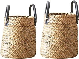 2 PCS/Set Seagrass Cesta De Cesteria De Mimbre, Cestos para