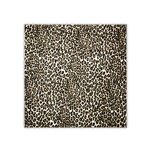 Seamless Leopard Print Personalized Square Silk Scarf Head Hair Neck Scarves Wraps Bandana Women Sleep