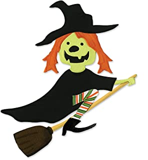 Sizzix 655571 Bigz Die Witch with Broom by Brenda Pinnick, Multicolor