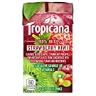 Tropicana 100% Juice Box, Strawberry Kiwi, 4.23 Fl Oz, Pack of 44