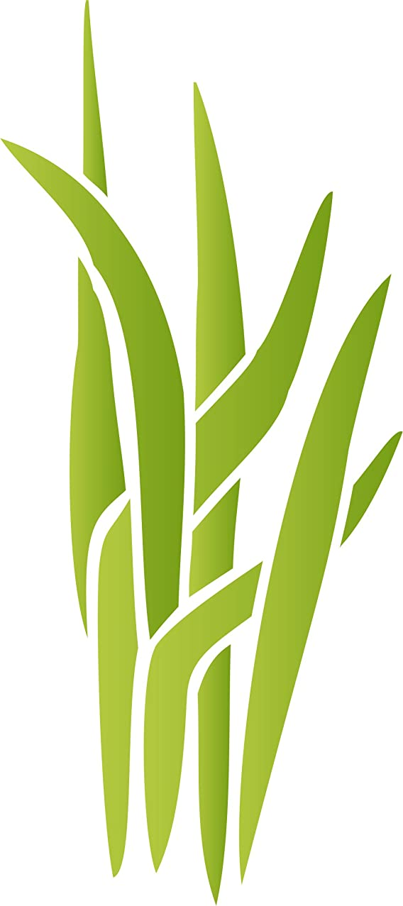 Marsh Grass Stencil - 4.5 x 10 inch (S) - Large Reusable Sedge Baby Childs Nursery Wall Stencils for Painting - Use on Paper Projects Walls Floors Fabric Furniture Glass Wood etc.