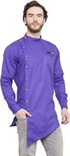 Ben Martin Men Rich Cotton Blend Short Designer Kurta-BM-DDD-007