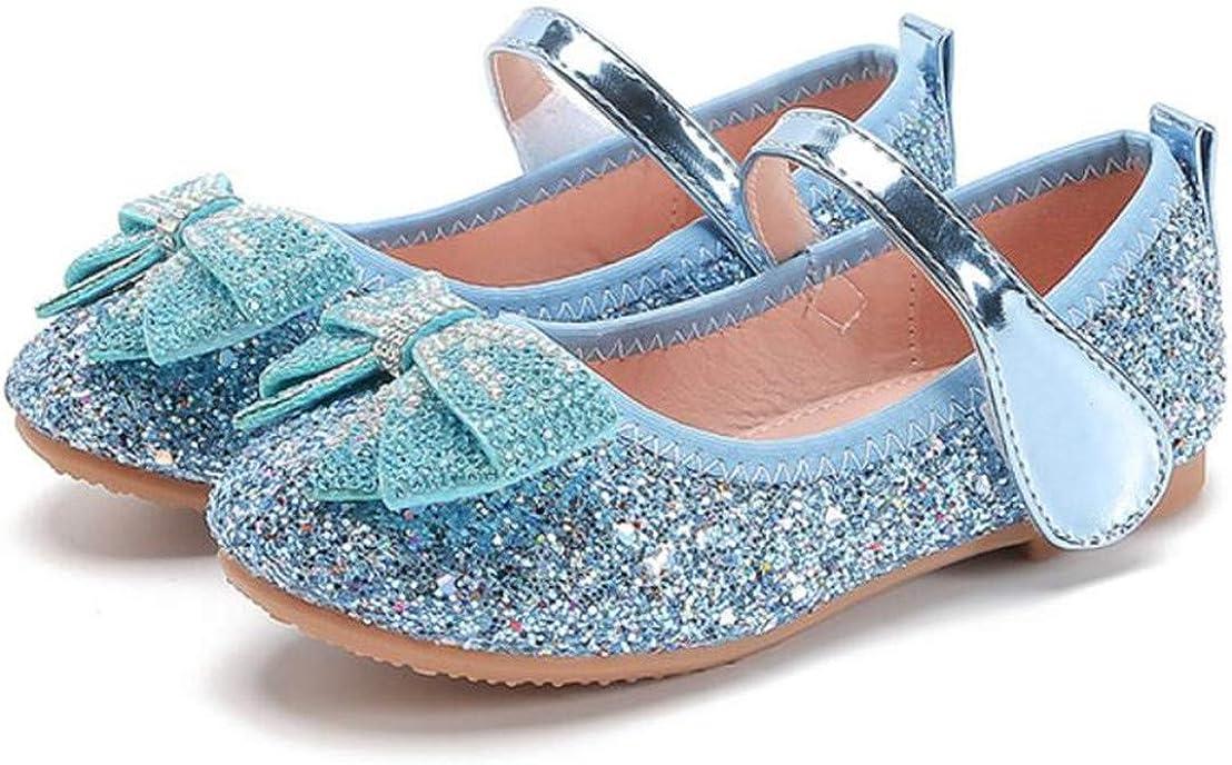 JGKDTX Girl's Adorable Sparkly Ballerina Ballet Flats Glitter Mary Jane Princess Wedding Dress Shoes (Toddler/Little Kid)