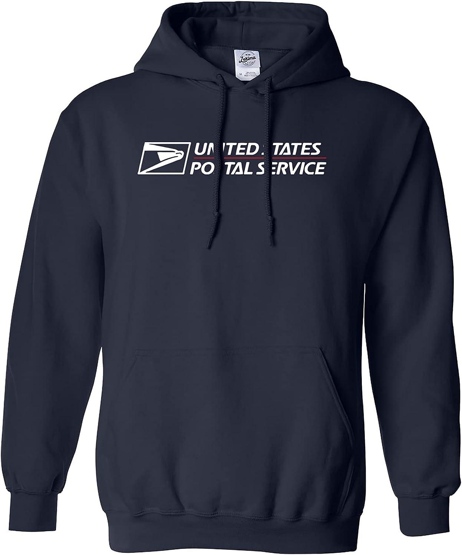 USPS POSTAL HOODIE #2 Hooded Sweatshirt Logo on Chest United States Service NAVY