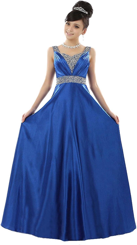 BeautyEmily Women's 4 color Straps Sequins Formal Evening Maxi Dresses
