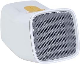 HM&DX PTC Cerámica Calefactor Ventilador, Mini Calefactor eléctrico Bajo Consumo Silence 4 Ajustes de Calor Pequeño Calentador para Inicio Dormitorio Oficina-Blanco