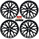 Hotwheelz Sporty Glossy Black 13-inch Wheel Cover with Rings(Set of 4pc, Platina Black)