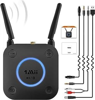1Mii B06Pro Long Range Bluetooth Receiver, HiFi Wireless Audio Adapter, Bluetooth 4.2 Receiver with 3D Surround aptX Low L...