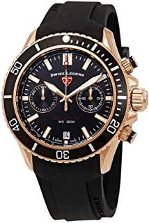 Swiss Legend Oceanaire Chronograph Black Dial Watch SL-13857SM-RG-01