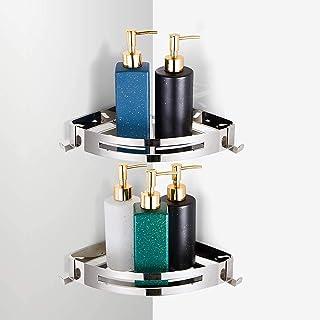 Bathroom Corner Shelves,shower Caddy With Hooks For Bathroom Organiser,304 Stainless Steel Corner Shower Caddy Hanging,Sho...