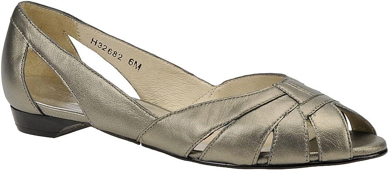 Mark Lemp Classics Womens Zuzu Peep Toe Ballet Flats