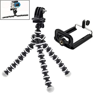 Adjustable 2 in 1 GoPro Xiaomi & Mobile Phone Tripod Camera Mount - Octopus Flexi Arm Stand for Go Pro Hero + Free Mobile Phone Mount