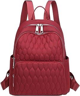LIMING Lightweight Nylon Backpack Waterproof Multi-Layer Shoulder Bag School Bag (Color : Purple, Size : 26 * 13 * 32cm),S...