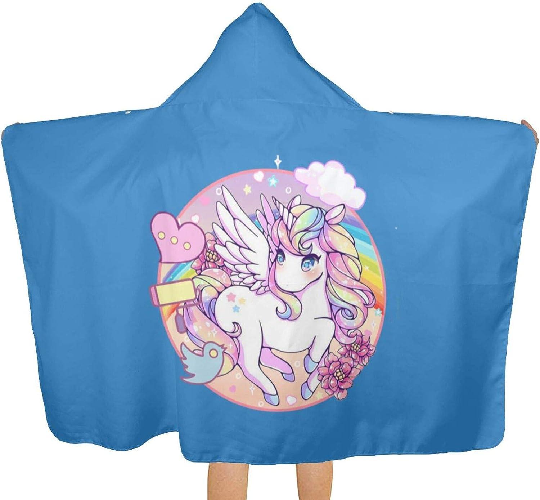 Cute Unicorns Kids Beach Import Seasonal Wrap Introduction Towel with Hoode Terry Hood Soft Cotton