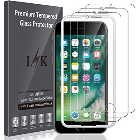 - 9H H/ärte Folie,Kratzfest und Anti-Schaum,Panzerglasfolie,Glas HD Display f/ür iPhone 7//8//6//6s 4.7 3 St/ück Panzerglas Schutzfolie f/ür iPhone 7,iPhone 8,iPhone 6 und iPhone 6S