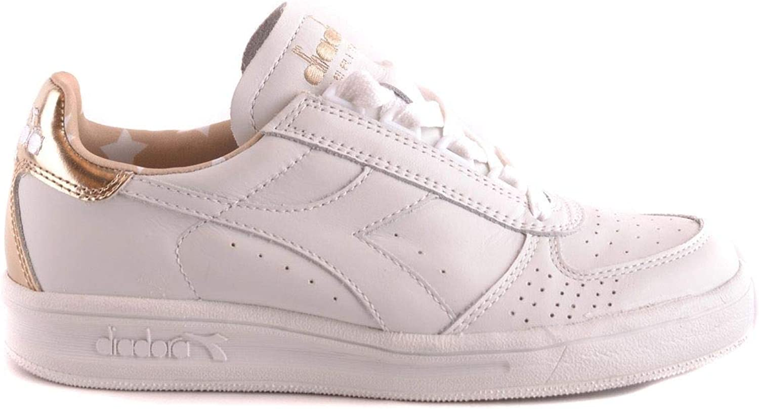 Diadora Women's MCBI28463 White Leather Sneakers