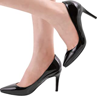 SHOESFEILD Heels for Women, Classic Fashion Pointed Toe High Heel Dress Pump Shoes