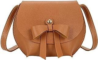 Everpert Cute Women Girl Bowknot Mini Messenger Bag Leather Flap Shoulder Bags/Black