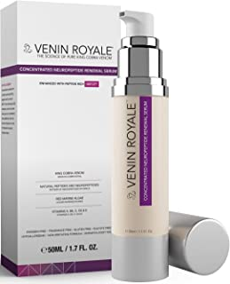 Venin Royale - Snake Venom Anti-Aging and Anti-Wrinkle Peptide Serum for Fine Lines, Rosacea, Uneven Tone | Best Skin Care for Face, Hands & Neck | Neuropeptide Treatment & Botox Cream (1.7oz)