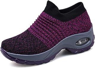 comprar comparacion Zapatillas Deportivas de Mujer Gimnasio Zapatos Running Deportivos Fitness Correr Casual Ligero Comodos Respirable Negro G...