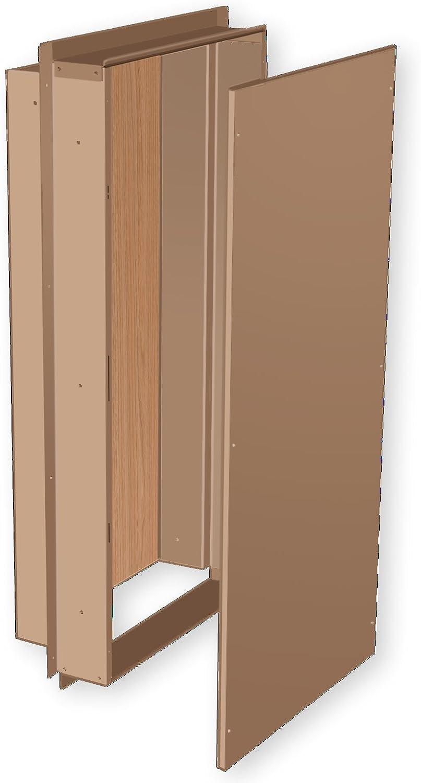 Benner-Nawman 14326W-UL Exterior Semi-Recessed Enclosures, 14-Inch X 32-Inch X6-Inch, Tan