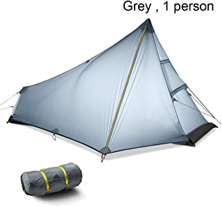 whhuwai 2-3 Person Trekking Pole Tent Outdoor Camping Tent Ultralight Hiking Backpacking Winter Summer Tent