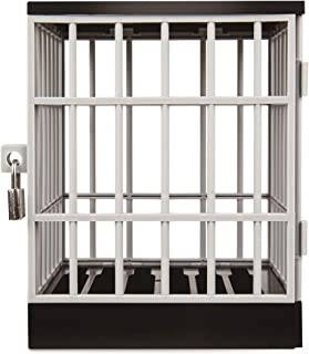 Stupidiotic Cell Block Cell Phone Jail with Lock and Key, Holds Up to 6 Devices or Smart Phones
