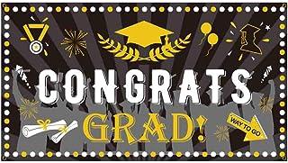 3 × 6 أقدام لافتة Congrats Grad راية احتفال حفلة العلم التخرج خلفية ديكور داخلي وخارجي