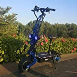 FLJ 7000w/48v Two Wheel 11in. Folding Off Road Electric Scooter New Fast