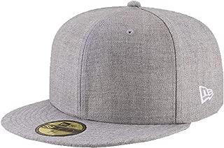 New Era Heather Grey Grau Blanc Blank 59fifty 5950 Fitted Cap Kappe Men