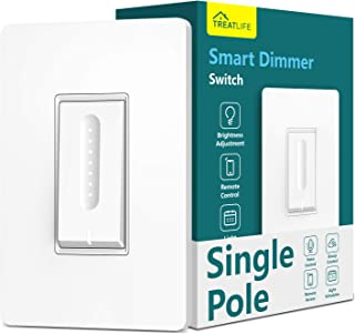 Smart Dimmer Switch,Neutral Wire Required,Treatlife WiFi Light Switch for Dimmable LED,..