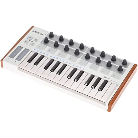ammoon Wordle Ultra-portátil Mini Profesional USB de 25 Teclas MIDI Drum Pad y Controlador del Teclado (MIDI) (MIDI)