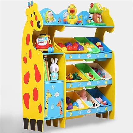 Ljleey-HO Toy storage rack Kids Toy Storage Organizer Bins For Organizing Toy Storage Baby Kids Toys Dog Toys Baby Clothing Children Books  Color Yellow  Size Free size