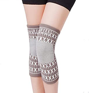 1Pair Magnetic Compression Knee Brace - Knees Support Sleeve - Natural Soft Cotton - Latex Elastic Fabric with Magnets for Sports, Sprains Strains Arthritis Sore Knees Recovery