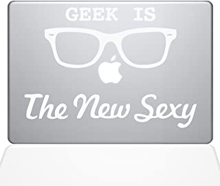 "The Decal Guru Geek is the New Sexy MacBook Decal Vinyl Sticker  - 13"" Macbook Pro (2016 & newer) - White (1066-MAC-13X-W)"