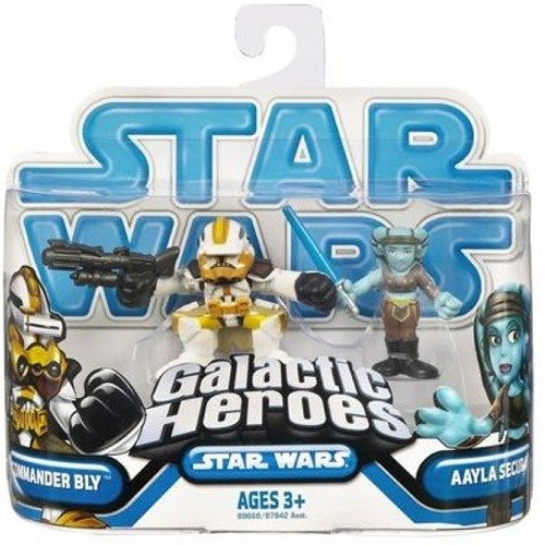 Star Wars 2009 Galactic Heroes 2-Pack Aayla Secura and Captain Bly