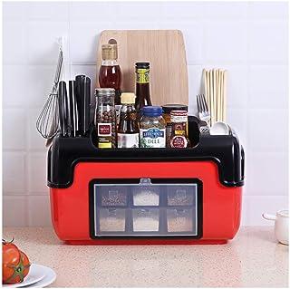 Dxbqm Organisateur de Cuisine Étagère de Cuisine Boîte à Condiments Multifonction Ensemble de Bouteille d'assaisonnement D...