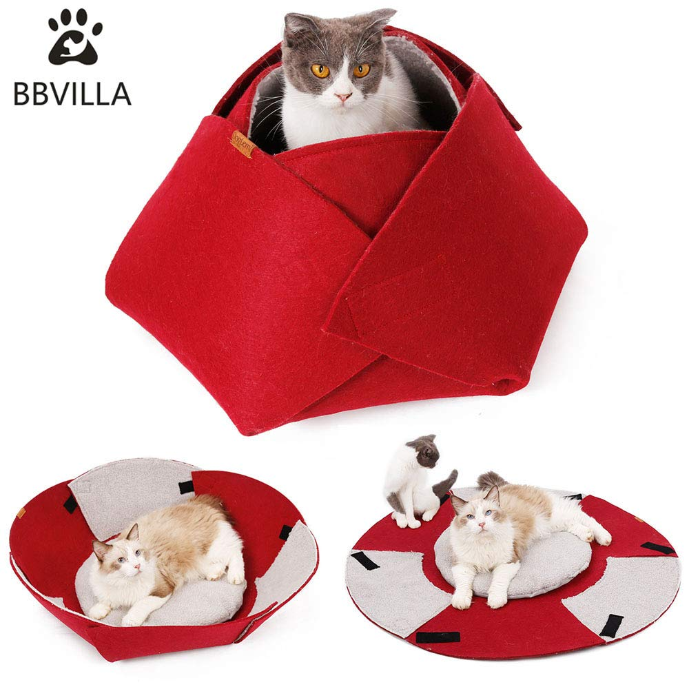 Bbvilla Rose Cat House Indoor Cat Cave Pet Summer Bed Collapsible Pet House Indoor Beds For Small Dog Cats Puppy With Soft Carpet Kittens Toys Buy Online In Guatemala At Guatemala Desertcart Com Productid 186661796