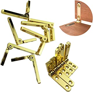 TamBee 90 Degree Jewelry Box Hinges Wooden Box Accessories Zinc Alloy Chest Case Hinge with Screws,12 Pcs