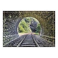 HiYash 建物の装飾列車トンネルバスラグ滑り止め玄関マットフロア玄関屋外屋内正面玄関マット子供用バスマット15.7x23.6inバスルームアクセサリー