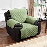 Argstar Reversible Recliner Cover Chair Protector Slipcover for Dogs, Cats, Pets Green/Sage