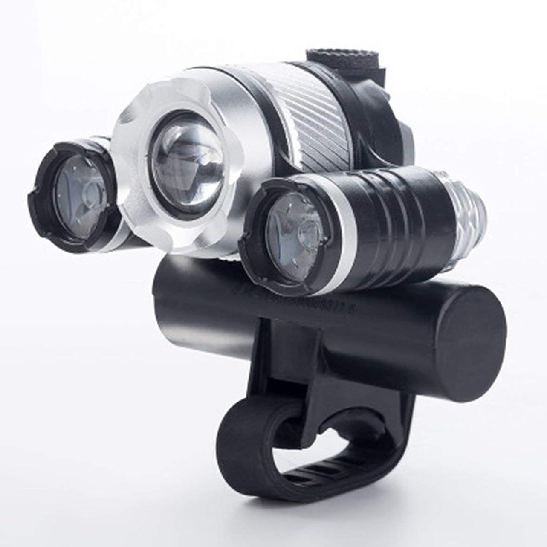 ゆでる告発者幻影Kongqiabona T6 LEDサイクリングランプUSB充電式自転車フロントライト自転車ヘッドライトバイシクルハンドルバーランプバイクパーツ