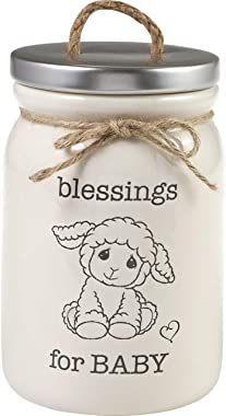 Precious Moments 193405 Blessings for Baby Prayer JAR, One Size, White
