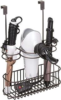 mDesign Boîte de rangement pour sèche cheveux, lisseurs et brosses à cheveux, etc. – support sèche cheveux – porte sèche c...