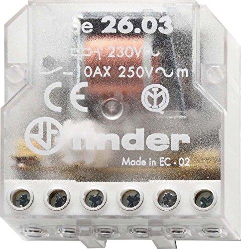 Finder 260382300000PAS Stromstoßschalter für Montage in Unterputzdose, 230VAC, 1Schließer/1Öffner, 10A