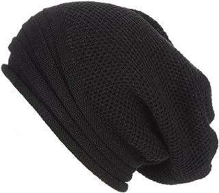 Hmlai Winter Knitted Hat, Unisex Men Women Men Women Baggy Warm Crochet Winter Wool Knit Ski Beanie Skull Slouchy Caps Hat