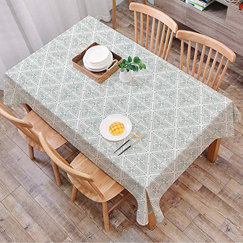 Rechteck Tischdecke140 x 200 cm,Vintage, klassisches Blumenmuster im Jugendstil mit Renaissance-Inspira,Couchtisch Tischdecke Gartentischdecke, Mehrweg, Abwaschbar Küchentischabdeckung für Speisetisch