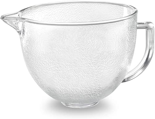 discount KitchenAid Tilt-Head Hammered Glass Bowl with popular Lid, 2021 5-Quart online sale