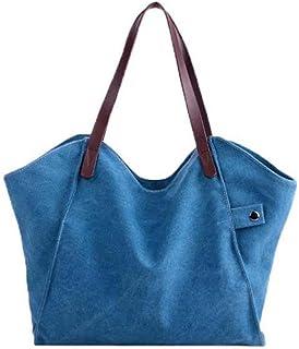 ESAILQ Bolsa De Hombro-001Messenger Bag para Mujer gran azul